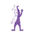 jester man funny vector image