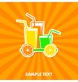 juice concept card vector image vector image