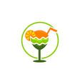 juice logo design template vector image vector image
