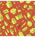 kitchen doodles stuff vector image vector image