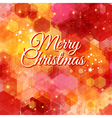 Merry Christmas card Bright hexagon geometric vector image vector image