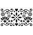 mexican folk art pattern geometric design vector image vector image