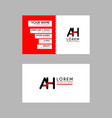 modern creative business card template with ah vector image vector image