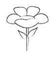 monochrome blurred silhouette of cartoon flower vector image vector image
