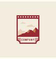 mountain logo national park logo travel badge vector image vector image