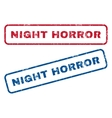 Night Horror Rubber Stamps vector image vector image