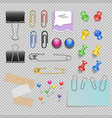 Office Accessories Set vector image