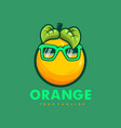 orange wearing glasses vector image