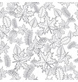 pattern seamless of autumn leaves vector image vector image