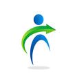 people abstract arrow logo vector image vector image