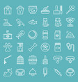 pet shop line icon set isolated on blue sky vector image vector image