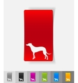 realistic design element greyhound vector image
