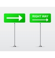 Right Way street road sign isolated vector image