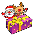 Santa claus and rudolph mascot the event activity vector | Price: 1 Credit (USD $1)