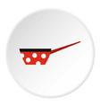 saucepan icon flat style vector image
