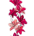 seamless tulips vector image vector image