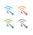 set hook with symbol wi fi design template vector image