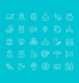 set line icons oktoberfest vector image