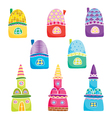 set with houses vector image