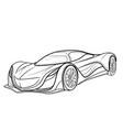 sketch a sports car coloring book cartoon vector image vector image