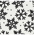 Snowflakes pattern seamless Stamp textured symbols vector image vector image