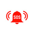sos icon emergency alarm button sos sign symbol vector image vector image