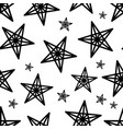 star seamless pattern vector image vector image