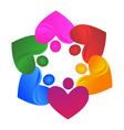 Teamwork hearts logo vector image vector image