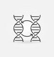 two dna concept icon or symbol in thin line vector image vector image