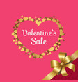 valentines sale poster heart made golden stars vector image vector image