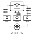Workflow line infographic vector image vector image