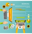 Working process of business team concept vector image vector image