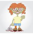 Zombie girl2 vector image