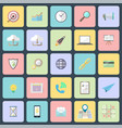 simple flat design icons vector image