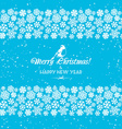 Festive Christmas and New Year seamless snowflakes vector image