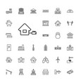 33 building icons vector image vector image