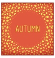 Abstract autumn frame vector image vector image