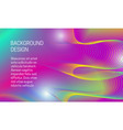 abstract vibrant background with divergent array vector image vector image