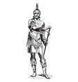 armor figure was sculpted by austrian sculptor vector image vector image