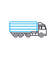 articulated lorry thin line stroke icon vector image vector image
