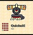 Aztec symbol Quiahuitl vector image vector image
