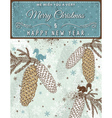 background with christmas elements and label vector image vector image