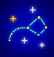 big dipper constellation vector image vector image
