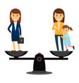 business woman vs family woman vector image