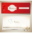 Card notes with ribbons Red and white invitations vector image vector image