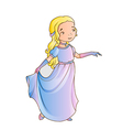 Cartoon girl wearing classic long dress vector image vector image