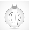 Christmas icon with the silhouette of the garland vector image vector image