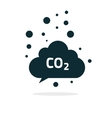 co2 emissions cloud icon carbon dioxide vector image vector image