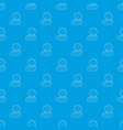 coins pattern seamless blue vector image