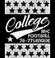 college t-shirt graphic vector image vector image
